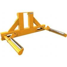 CM-Wheel Handler_VR.15 800x517 Carriage mounted reel handler, to lift rolls from 700-1700mm directly from the floor to position into machinery. Rollers allow the reels to be turned for alignment purposes
