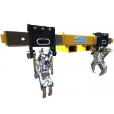 Drill Bit Lifter_VR.377 800x565 Eliminating the customers need to use two lift trucks with lifting slings and spreader beams, this hydraulic grab was designed to allow drill bits to be picked up from the floor and positioned onto racking and flatbed truck